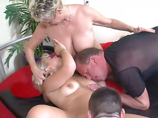 Dirty mature couple exchanged partners with young kinky guys