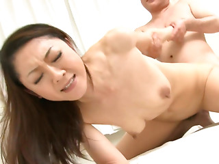 Friky Japanese milf Ruri Hayami gets fucked in doggy by horny daddy
