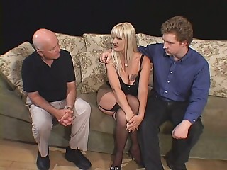 Horny dude likes to watch how her girlfriend Erica Moore fucks another guy
