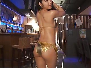 RINA - Oiled Up Gold Bikini Dancing (Non-Nude)