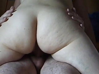 Mature wife June riding