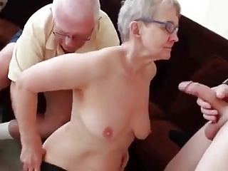 old lady enjoying Cock