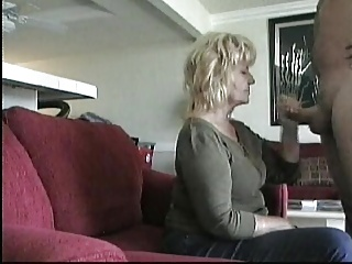 Older Neighbor Gives  BJ on hidden cam