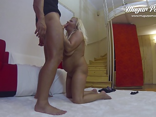 Granny Sharon old pussy Hammered by MugurPorn young cock