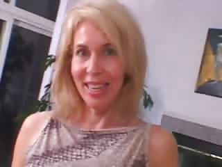 Hairy Blond Mature tries BBC Anal but it wont fit in
