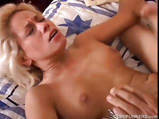 Beautiful blonde MILF loves to fuck