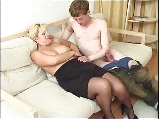 Mature and young cock 43