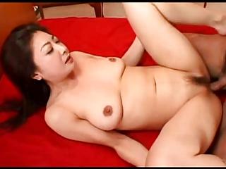 Pretty Japanese MILF hot cunt creampied