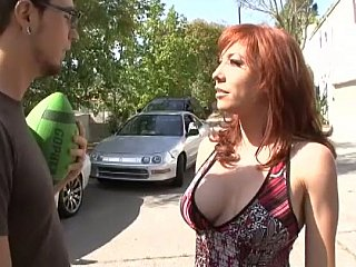 Redhead step-mom acquires drilled