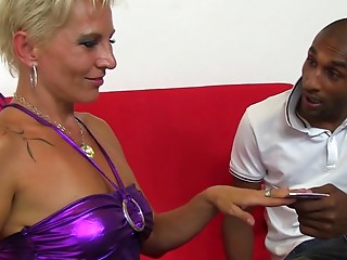 Horny housewife in an interracial fuckfest