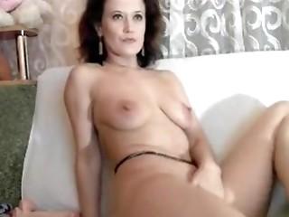Pussy dildo play for horny amateur milf