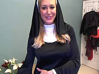 BRANDI LOVE NUN OUTFIT WEBCAM SHOW FROM 03/24/2013