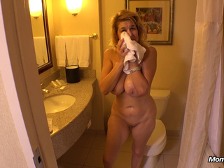 Big Natural Breasts Mature Patty POV - Facial