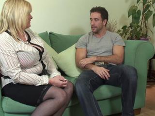 Chubby mature fucks with her boyfriend