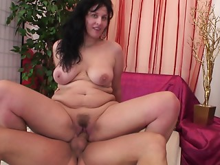 Fascinating groans from brunette hair when screwed using toy