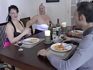 Old bitch bulky hardcore gangbang with allies thats how dinner party gone wrong