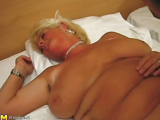 Banging the old hottie with a blond hair just how this babe can't live without it