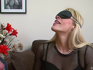 Charming Brittany Bardot is blindfolded and group-fucked like not ever previous to