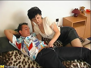 Enjoyable doggy style hammering awarded to cute old dame