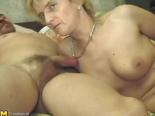 Sassy matured old slut groaning whilst fucked doggy position