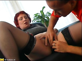 Steaming hawt porn act featuring aged redhead Frederique
