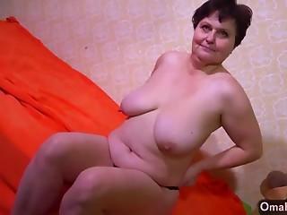 Elder BBW grannies striptease compilation