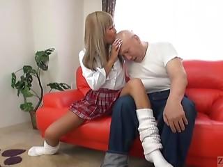 Subtitles Japanese schoolgirl hairless grandpapa head masturbation