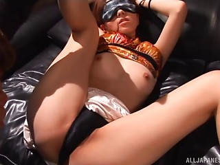 Hot Juri Kano is blindfolded and permeated like not at any time before!