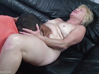 Slutty old slut dims her vision in enjoyment as hse acquires roughly smashed from behind