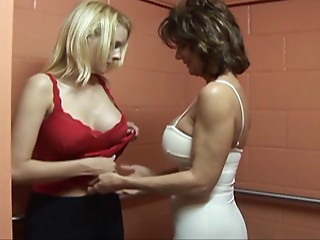 Experienced aged hotties are merely pleasured with lesbo sex