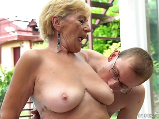Unfathomable cunt stuffing for an experienced mentor by the pool