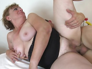 Martina is a fat housewife who surely merits a doggy shagging