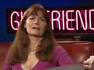 Mature lesbo woman discusses her past raunchy experiences