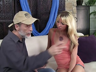 Young slut sweetheart Angie gives head to and bonks a much grand-dad