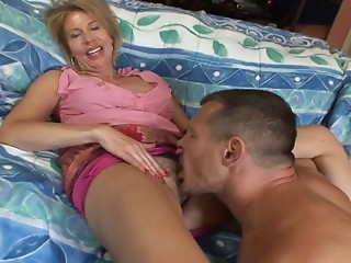 Tongue drilled aged hooker needs his wang in her soaked muff