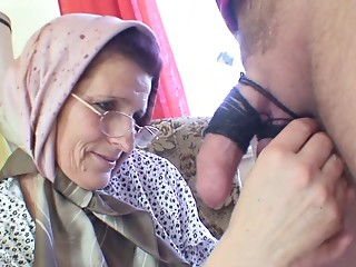 Excited elder lady receives a worthwhile dicking from a excited man