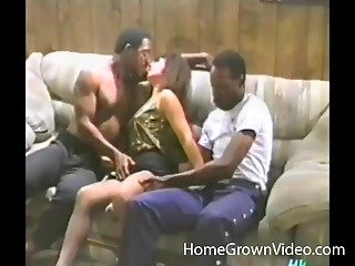 Cuckold films his insatiable wife fucking 2 darksome studs