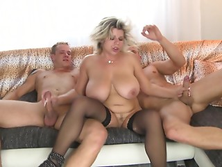 Double the joy for a plump hottie with large mambos