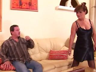 Arse ass licking elder hooker gives him her backdoor for fucking