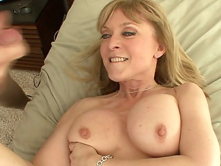 Nice-looking old sweetheart catches him wanking and bonks him