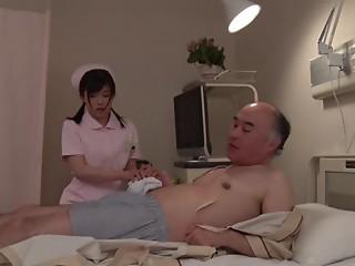 Elder shlong copulates the Japanese nurse in her flawless juicy twat