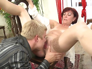 Tantalizing redhead with a lot of experience shagged just how this babe can't live without