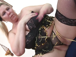 BBW bonks her toy then licks her juices from the marital-device
