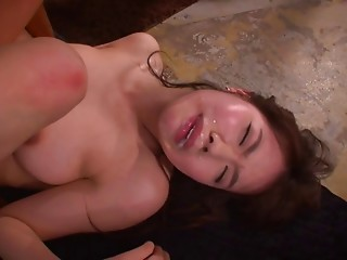 Blindfolded senorita from Japan is willing for the swarthy dicks