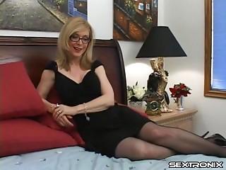 Pornstar icon Nina Hartley is a born penis engulfing hooker