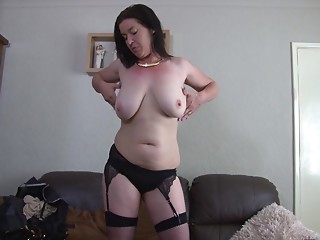 Mother clothed up like a bitch to kindle u as that babe masturbates