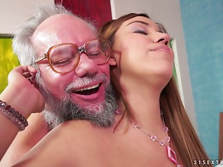 Karla lastly lets her experienced neighbour to permeate her depths