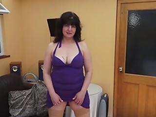 Mature lady with a hawt pierced clitoris receives all moist masturbating