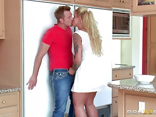 Mom makes sure his unbending cock feels worthwhile in her snatch