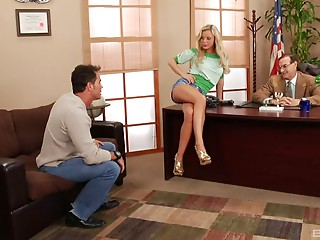 Bree Olson fucking a soldier on his desk in the Pentagon